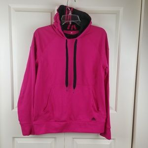 Adidas Raspberry Pink Fleece LS Pullover Hoodie M